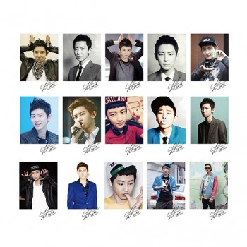 EXO CHANYEOL Personal EXO XOXO WOLF GROWL LOMO Card 20 Photos With 1 Iron Box And 10 Heart Shaped Clips Ver.2