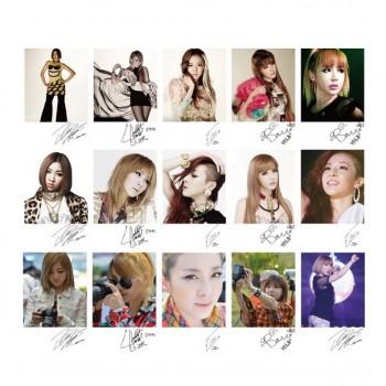 2NE1 Korean Fashion Retro LOMO Card 20 Photos With 1 Iron Box And 10 Heart Shape Clips
