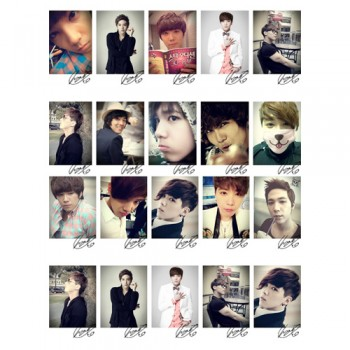 F.TI SLAND FTIsland HongGi Collective LOMO Card 20 Photos With 1 Iron Box And 10 Heart Shape Clips