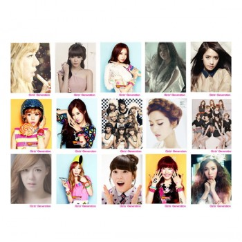 Girls' Generation SNSD Retro LOMO Card 20 Photos With 1 Iron Box And 10 Heart Shape Clips