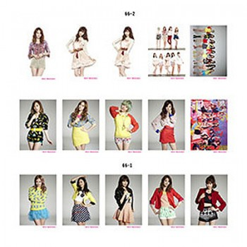 Girls' Generation SNSD Retro LOMO Card 20 Photos With 1 Iron Box And 10 Heart Shape Clips Ver.2