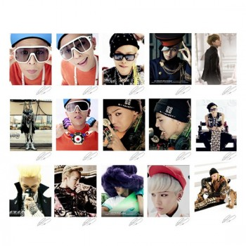 BIGBANG GD G-Dragon Retro LOMO Card 20 Photos With 1 Iron Box And 10 Heart Shape Clip Ver.2