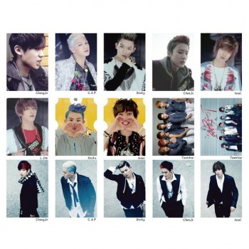 TEEN TOP TEENTOP Collective Korean Fashion LOMO Card 20 Photos With 1 Iron Box And 10 Heart Shaped Clips