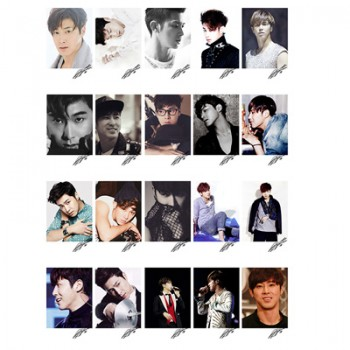 TVXQ U-KNOW LOMO Card 20 Photos With 1 Iron Box And 10 Heart Shape Clips