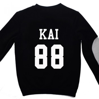 NEW KPOP Unisex Black EXO SBS Sweatshirts Miracles Cotton Hoodies 12 Members wy103