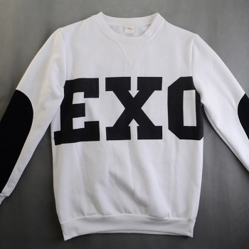 NEW KPOP Unisex White EXO SBS Sweatshirts Miracles Cotton Hoodies wy103