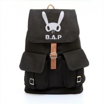 B.A.P School Bag Satchel Canvas Backpack