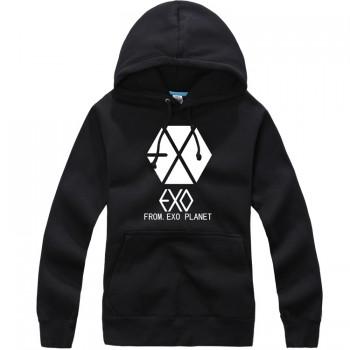 EXO EXO-K EXO-M Korean Black Sweater Hoodies