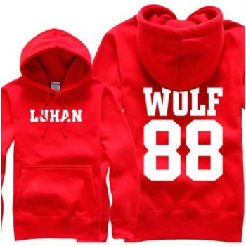 EXO EXO-K EXO-M Korean RED Sweater Hoodies